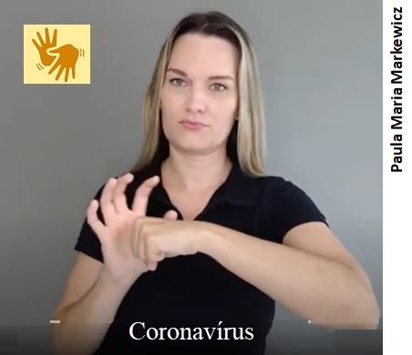 Coronavírus, em LIBRAS